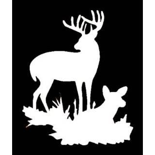 DEER SILHOUETTE Vinyl Sticker/Decal (Hunting,Deer)