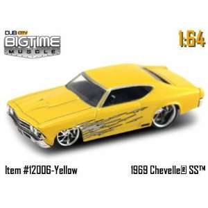 Jada Dub City Big Time Muscle Yellow 69 Chevy Chevelle SS