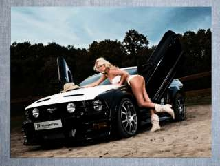 D2479 Ford Mustang Shelby Sexy Girl Muscle Car 32x24 POSTER