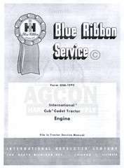 CUB CADET Original 1961 1963 Engine Service Manual IH
