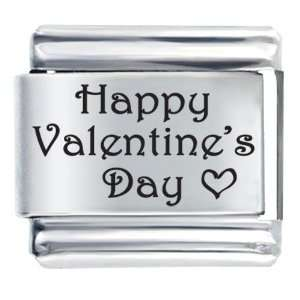 Happy Valentines Day Laser Italian Charms Pugster Jewelry