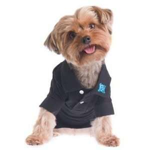 RuffLuv Buttons Up Black Dog Polo Shirt