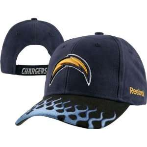 San Diego Chargers Flame Adjustable Hat