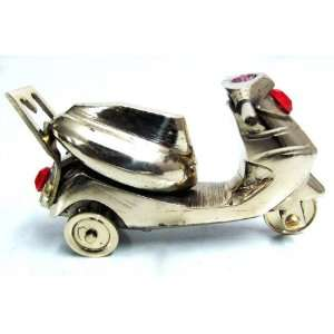 Smalll Brass Metal Scooty Table Home Decor Sculpture Free