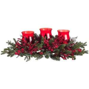 30 Berry & Pine Christmas Centerpiece Arrangement with