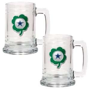 NFL Dallas Cowboys St. Patricks Day 2pc Glass Tankard Set