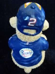 NASCAR RUSTY WALLACE 2 FIGURINE STATUE RACE BEAR CAR HAT JACKET POLY