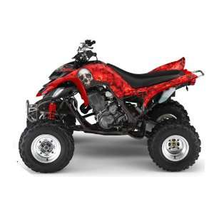 AMR Racing Yamaha Raptor 660 ATV Quad Graphic Kit   Bonecollector Red