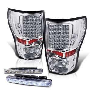 Tundra Chrome LED Tail Lights Lamp New + 8 Led Bumper Fog Automotive