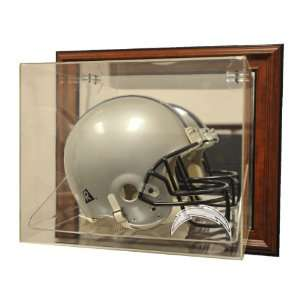 San Diego Chargers Helmet Case Up Display, Brown   Acrylic Full Size
