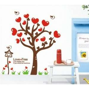 Hearts with Quote Wall Sticker Decal for Kids Room Living Room Baby
