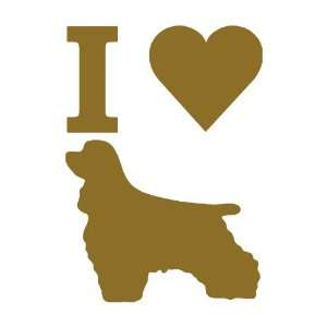 I Love Cocker Spaniels GOLD vinyl window decal sticker