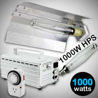 1000W WATT HPS GROW LIGHT KIT SWITCHABLE BALLAST SYSTEM