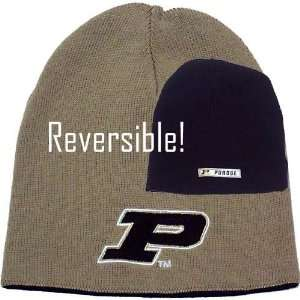 Purdue Boilermakers Gold & Black SH Reversible Knit Beanie
