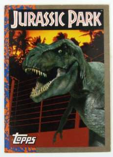 1993 Jurassic Park Topps 88 Trading Card 11 Stickers MT