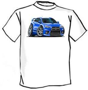 Mitsubishi Lancer EVO Muscle Car Cartoon Tshirt FREE