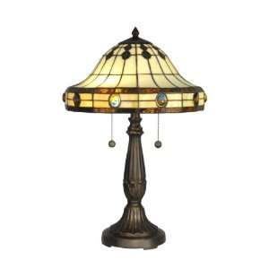 Dale Tiffany TT10034 Tiffany Mission Table Lamp, Antique Golden Sand