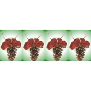Real Pine Cone Christmas Ornaments