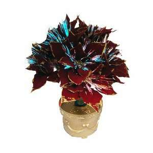 Fiber Optic Red Poinsettia Artificial Christmas Plant