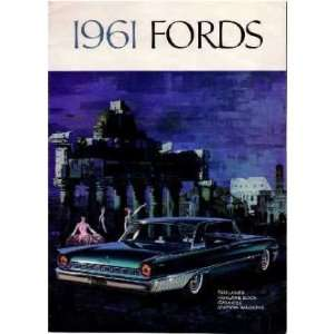 1961 FORD Sales Brochure Literature Book Piece Automotive