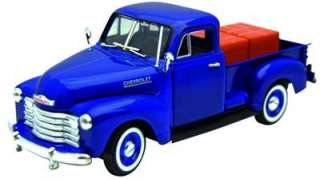 1951 Chevy 3100 Pickup Truck Diecast Model   Blue   Signature Models