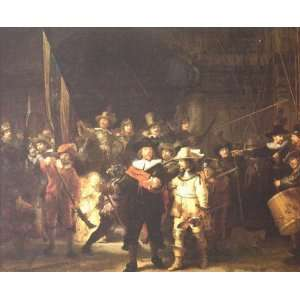 and Oil Paintings Night Watch Oil Painting Canvas Art
