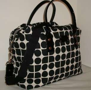 Kate Spade Glenmoor Noel Black Juliet Travel Duffle & Cosmetic Bag Set