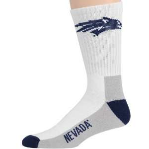 Nevada Wolf Pack Tri Color Team Logo Crew Socks Sports