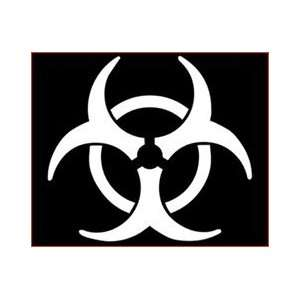 BIO HAZARD SYMBOL LOGO   5 WHITE   Vinyl Decal Sticker