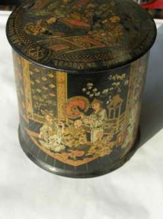 19th Century antique Imperial Russian paper mache tea caddy box