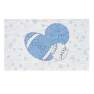 The Rug Market Baby Ball Blue / White Kids Rug   11766   2