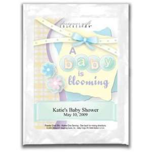 Baby Shower Margarita Mix Favors  A Baby is Blooming Personalized