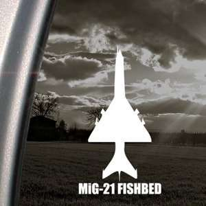MiG 21 FISHBED Decal Military Soldier Window Sticker