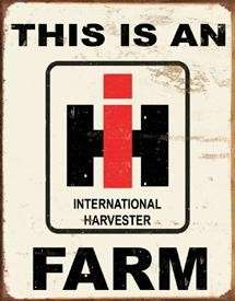 INTERNATIONAL HARVESTER FARM Machinery Tractor Vintage Style Tin Sign