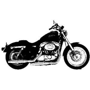 Harley style motorcycle rubber stamp Arts, Crafts