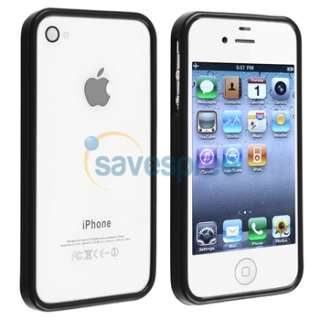 generic tpu rubber bumper case compatible with apple iphone 4 4s black