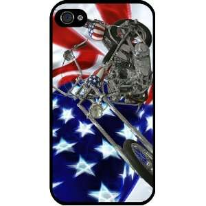 Flag Harley Davidson Black Hard Case Cover for Apple iPhone® 4