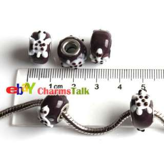 wholesale lots 30 Lamwork Glass Animal Beads Fit Charms european