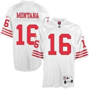 49ers Joe Montana White Replica Football Jersey