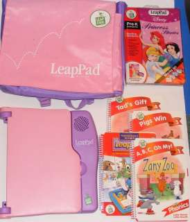 Pink Leap Frog LeapPad With 5 Lessons in Pink Case