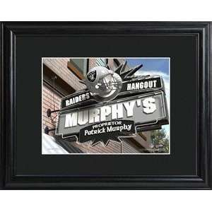 Oakland Raiders NFL Pub Sign Personalized Print Sports