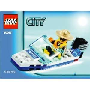LEGO City Mini Figure Set #30017 Police Boat Bagged Toys