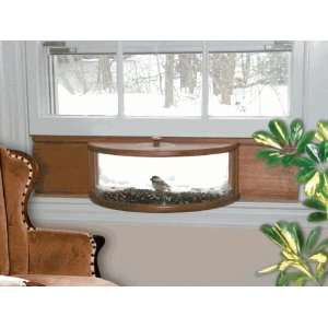 Deluxe Mirrored Panoramic Window Bird Feeder Patio, Lawn & Garden