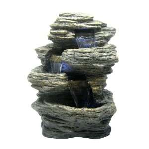 Rock Stone LED Indoor Table Top Water Fountain