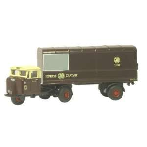 Oxford Diecast 1/76 Scale GWR Mechanical Horse Van Trailer