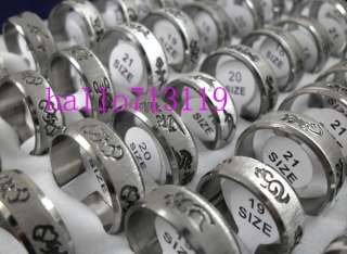 50pcs Carve band design mix Stainless steel RINGS jewelry lots resale