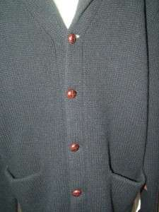 Mens Ralph Lauren POLO Med Navy Blue Shawl Neck Wool Cashmere