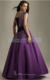 Sleeve Evening Dresses Fashion Beading A line Formal Prom Gown