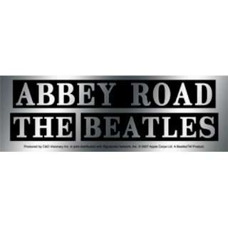 The Beatles   Abbey Road Black on Shiny Silver Chrome