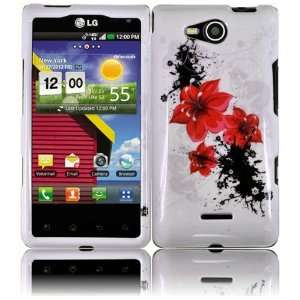 Red Lily Flower Design Snap on Hard Skin Shell Protector Faceplate